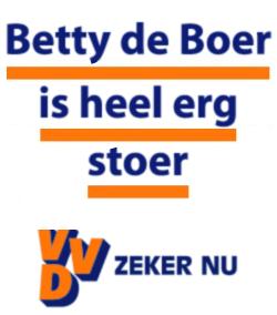 Betty de Boer is heel erg stoer - zeker nu - VVD