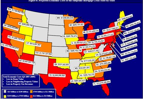 grote verliezen in diverse staten USA
