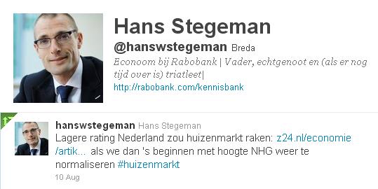 Hans Stegeman Rabobank